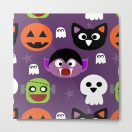 Halloween friends Metal Print