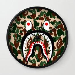 Bathing Ape  Camo T-Shirt Wall Clock