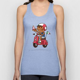 Italy! Pinocchio Eat Pizza and Ride Vespa Unisex Tank Top