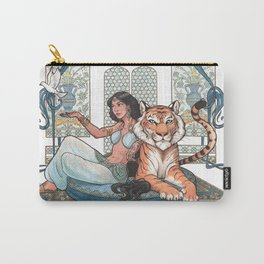 Every Girl Is A Princess 03: Arabian Nights Art Nouveau Aladdin's Princess Jasmine and Rajah Carry-All Pouch