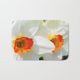 White Petals Bath Mat