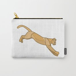Geometric Mountain Lion / Cougar Carry-All Pouch