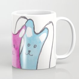 Three Angel Cats Coffee Mug