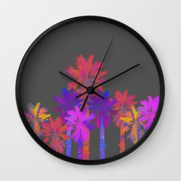 Vibrant Palmtrees No.1 Wall Clock