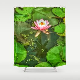 Waterlily and Lilypads Shower Curtain