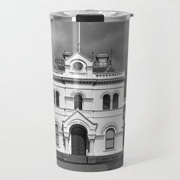Clunes Town Hall BW Travel Mug