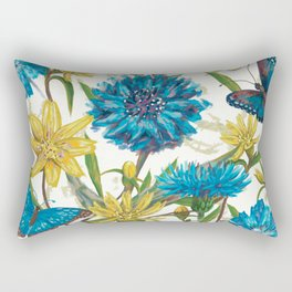 Seamless floral pattern with flowers and butterfly Rectangular Pillow