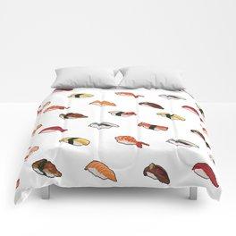 Pixelated Sushi Comforters