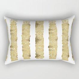 Tiki Totems – Gold Palette Rectangular Pillow