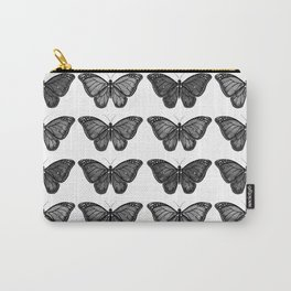 Monarch Butterfly - Black and White Carry-All Pouch