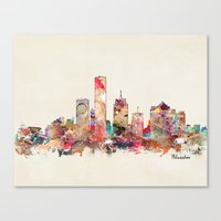 milwaukee Canvas Prints featuring milwaukee wisconsin  by bri.buckley