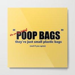 P**P BAGS! yellow Metal Print