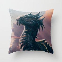 BLUE DRAGON Throw Pillow