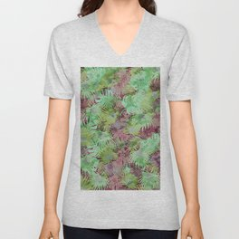 Seamless Pattern of Tropical Leaves II Unisex V-Neck