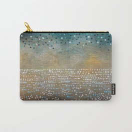 Landscape Dots - Turquoise Carry-All Pouch