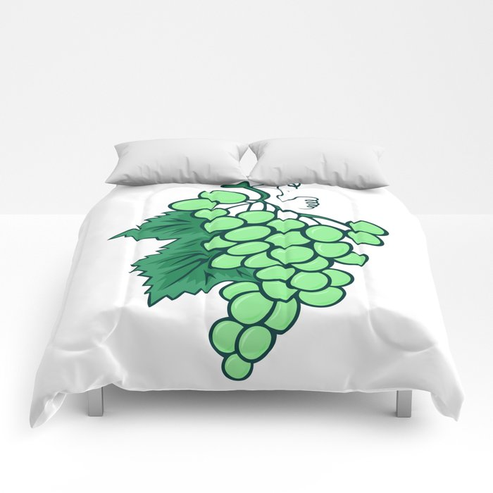 Abstract bunch of grapes Comforters