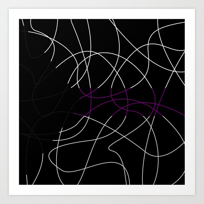 Abstract Threads – Demisexual Pride Flag Art Print