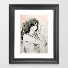 She was not an impulsive woman Framed Art Print