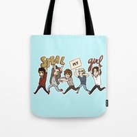 kendrawcandraw Tote Bags featuring Everybody Wanna by kendrawcandraw