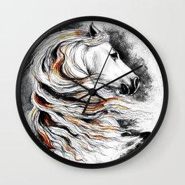 Dark Beauty Horse Wall Clock