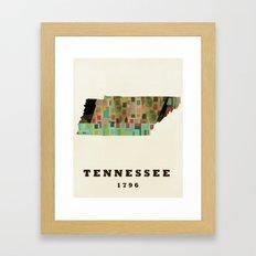 Tennessee state map modern Framed Art Print