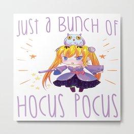 Halloween Chibi Anime Manga Otaku Hocus Pocus Metal Print