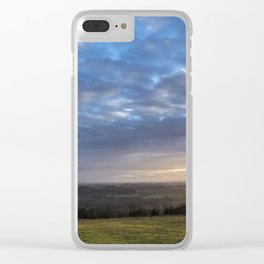 Pastoral Beauty Clear iPhone Case