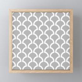 Classic Fan or Scallop Pattern 452 Gray Framed Mini Art Print