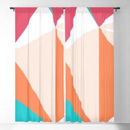 Triangles - Chardon, Light Salmon, White, Cabaret, Turquoise Blue, Blossom, Morning Glory Blackout Curtain