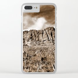 Beauty and Power Clear iPhone Case