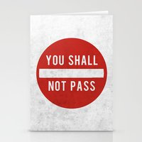 lotr Stationery Cards featuring you shall not pass by jerbing