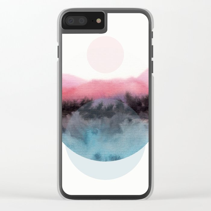 Watercolor S. 01 Clear iPhone Case