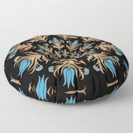Turkish tulip - Ottoman tile 4 Floor Pillow