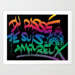 I'm in love with past French Street Art Graffiti in Genova Italy Art Print