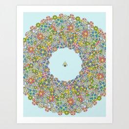 FLOWER POWER BEE Art Print