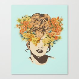 Tropical Lady Canvas Print