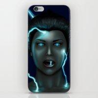 lightning iPhone & iPod Skins featuring Lightning by Egberto Fuentes