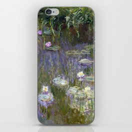 Water Lilies by Claude Monet, 1922 iPhone Skin