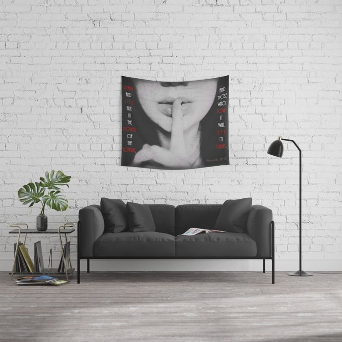Power of the Tongue Wall Tapestry