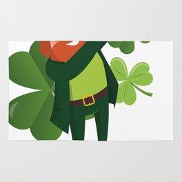 Funny Leprechaun Dab Dabbing St Patricks Day Rug