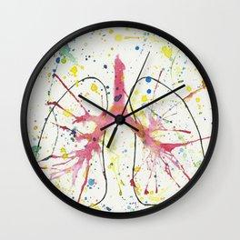 Splash Lung Wall Clock