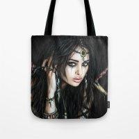 gypsy Tote Bags featuring Gypsy by Justin Gedak