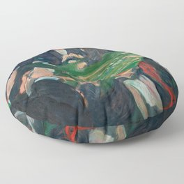 At the Roulette Table in Monte Carlo by Edvard Munch Floor Pillow