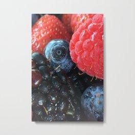 Dewy Berries Metal Print