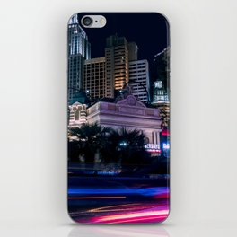 Light Streaks in Las Vegas, USA / Night City Series iPhone Skin