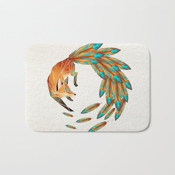 fox circle Bath Mat
