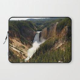 Majestic Upper Falls - Yellowstone Valley Laptop Sleeve