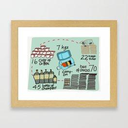 Carry on Seven Framed Art Print