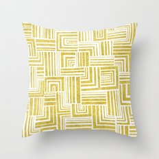 Golden Doodle weave Throw Pillow