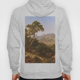 Scenery At Shelburne Vermont 1865 By David Johnson | Reproduction | Romanticism Landscape Painter Hoody